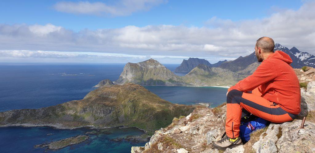 Flott utsikt fra toppen av Offersøykammen.